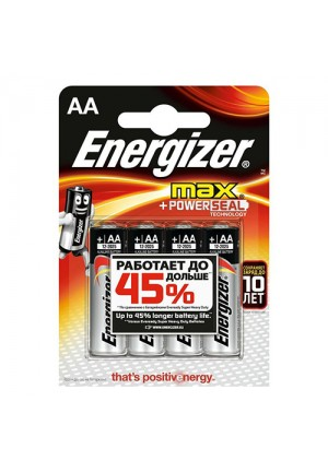 Батарейки AA Energizer MAX LR06 - 4 шт