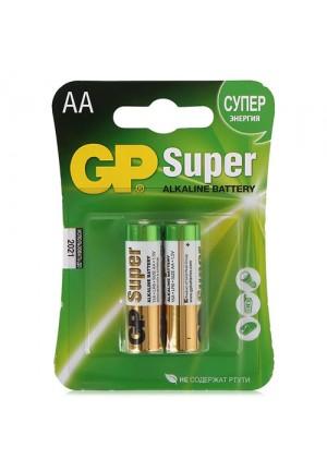 Батарейки AA GP Super LR06 - 2 шт