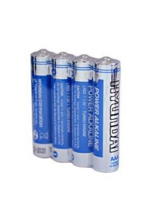 Батарейки AAA HYUNDAI POWER ALKALINE LR03 - 4 шт