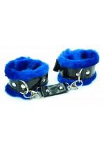 Синие наручники с мехом BDSM Light 710003ars