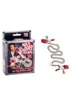 Цепочка для груди Phil Varone Rock Hard Nipple Clamps Red 2975-50BXSE