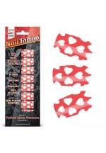 Набор лаковых полосок для ногтей Белые сердца NAIL FOIL