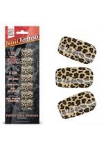 Набор лаковых полосок для ногтей Леопард NAIL FOIL