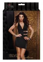 Мини платье с боковой шнуровкой HALTER MINI DRESS BLACK L 882409-BLACK-L