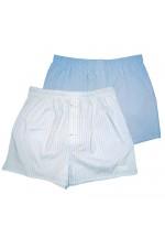 Голубые и белые трусы-шорты HUSTLER