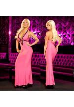 """Вечернее розовое платье """"в пол"""" от Hustler"""