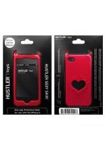 Красный чехол HUSTLER из силикона для iPhone 4, 4S