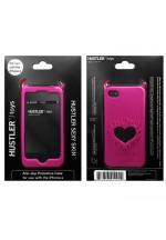 Розовый чехол HUSTLER из силикона для iPhone 4, 4S