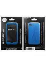 Синий силиконовый чехол HUSTLER для iPhone 4, 4S