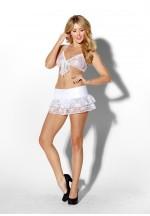 Ажурные лиф и юбочка INNOCENT IDOL WHITE XL 02012-04-04
