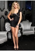 Ассиметричное мини-платье L LA28099Lblack