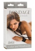 Ошейник с наручниками Bondage Collection Collar and Wristbands One Size 1058-01Lola