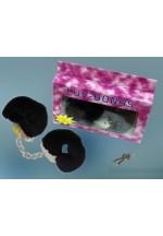 Металлические наручники с черным мехом H002B1F086A1-BXSC