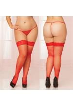 Fishnet Thigh High REDX