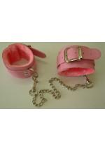 Оковы розовые с ремешками, соединенные цепочкой длиной 35см 5012-4