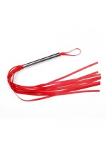Плеть красная из латекса с хвостами в виде лент длиной 40-45 см 6021-2