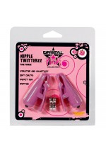 Клипсы на соски и клитор с вибро (розовые) NIPPLE TWITTERZ VIBR NIPPLE CLIPS9783TJ
